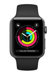 Apple Watch Series 3 - 42mm Smartwatch, GPS, Space Gray Aluminum Case with Black Sport Band