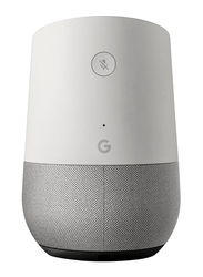 Google Home Portable Bluetooth Speaker, White/Slate fabric