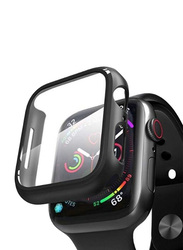 Hyphen Tempered Glass Protector for Apple Watch 44mm, Black