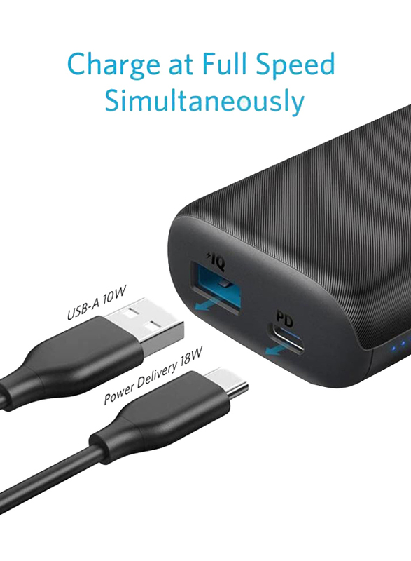Anker 10000mAh PowerCore Ultra Compact Portable Charger Power Bank with Micro-USB Input, Black