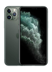 Apple iPhone 11 Pro 256GB Midnight Green, Without FaceTime, 4GB RAM, 4G LTE, Dual Sim Smartphone