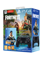 Sony DualShock 4 Wireless Controller for Playstation PS4 with Fortnite Voucher, Black