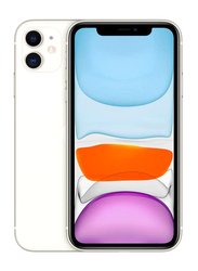 Apple iPhone 11 128GB White, Without FaceTime, 4GB RAM, 4G LTE, Dual Sim Smartphone