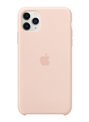 Apple Silicone Back Case Cover for Apple iPhone 11 Pro Max Mobile Phone, Pink Sand