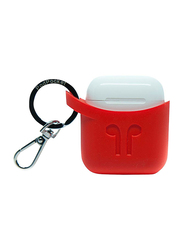 Podpocket Silicone Case for Apple AirPods, Blazing Red