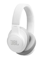 JBL Live 500BT Wireless Over-Ear Headphones, White