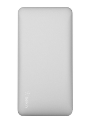 Belkin 10000mAh Pocket Power F7U039BTSLV Fast Charging Portable Power Bank, Silver