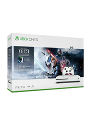 Microsoft Xbox One S Console, 1TB with 1 Controller and 1 Games (Jedi Fallen Order Bundle) and 1 Month EA Membership, White