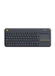 Logitech K400 Plus Wireless English Touch Keyboard, Black