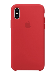 Apple Silicone Back Case Cover for Apple iPhone XS Mobile Phone, Red