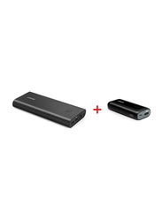 Anker 26800mAh PowerCore+ Portable Fast Charger Power Bank with Anker 5200mAh Astro Portable Charger, with USB Type-A and Micro-USB Input, Black