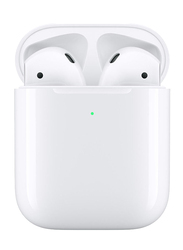 Apple AirPods 2019 Wireless In-Ear Noise Cancelling Headphones, with Wireless Charging Case, White