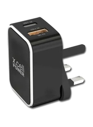 X.cell Fast Wall Charger, with 3-in-1 Cable, HC-226MLC, Black