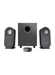 Logitech Z407 2.1 Speaker System, with Subwoofer and Wireless Control, Graphite Grey