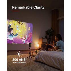 Anker Nebula Apolle D2410V11 DLP Wi-Fi Portable Mini Projector, 200 Lumens, Black