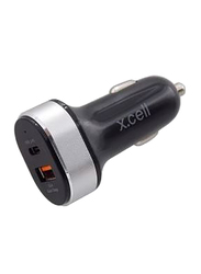 X.cell CC36W Car Charger, 36W, Black