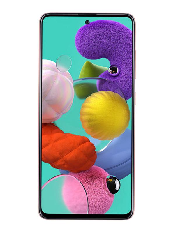 Samsung Galaxy A51 128GB Pink, 6GB RAM, 4G LTE, Dual Sim Smartphone