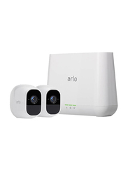 Netgear Arlo Pro 2-Rechargeable Wire Free Surveillance Camera, 1080p, Full HD, White