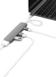 HyperDrive NET USB Type-C Hub with 4K HDMI Support for Apple MacBook, Grey