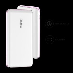 Romoss 10000mAh Eternity Pro Power Bank, with Quick Charge 3.0 USB C, White