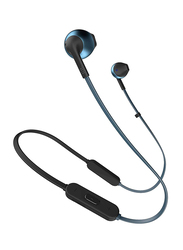 JBL T205BT Wireless In-Ear Headphones, Blue