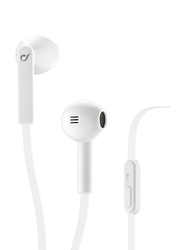 Cellularline Loud In-Ear Stereo Egg Capsule Headphones, with Mic, White