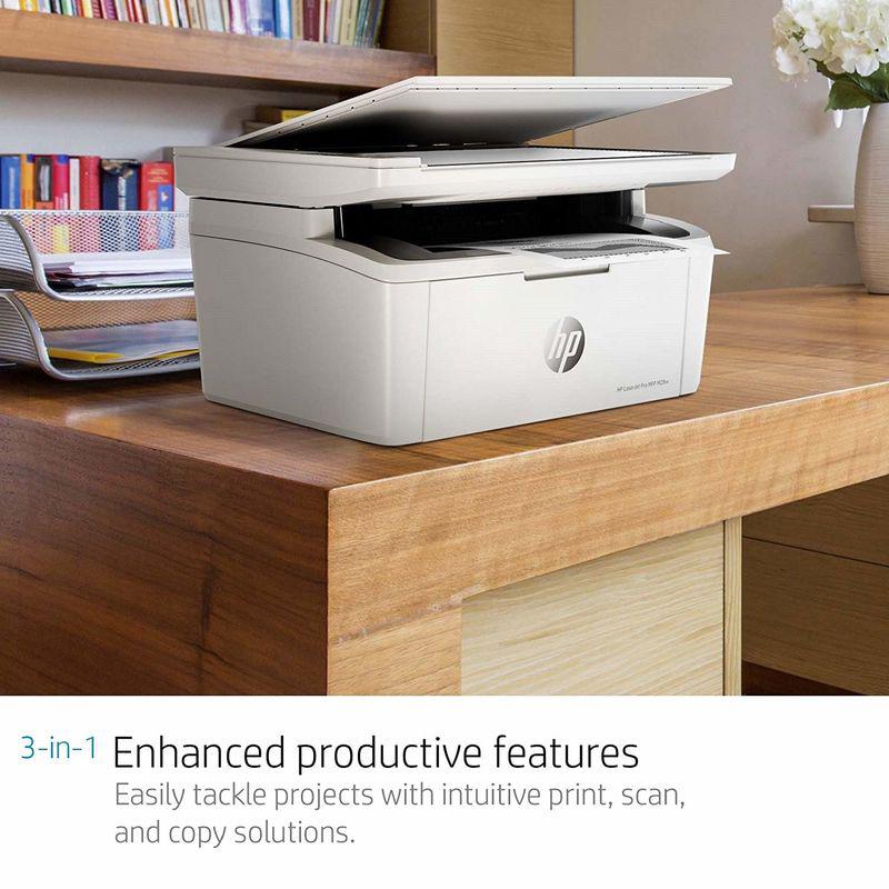HP LaserJet Pro M28w W2G55A Multi-Function Laser Printer, White