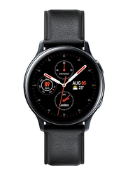 Samsung Galaxy Active 2 - 40mm Smartwatch, GPS, Silver Stainless Steel Case with Black Fluorcelastomer Band