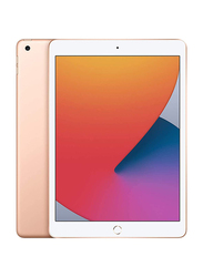 Apple iPad 8th Gen 2020 128GB Gold 10.2 inch Tablet, Without FaceTime, 4GB RAM, Wi-Fi Only