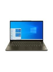 """Lenovo Yoga Slim 7 Laptop, 14"""" FHD Display, Intel Core i7-1065G7 10th Gen 1.3 GHz, 1TB SSD, 16GB RAM, NVIDIA GeForce GTX MX350 2GB Graphics, EN-AR KB, Win 10, YOGA7-82A100DDAX, Grey"""