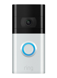 Ring Solar Charger for Ring Video Doorbell 3/Doorbell 3 Plus, Silver/Black
