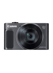 Canon Power Shot SX620 HS Digital Camera, 20.2MP, Full HD, 25x Optical Zoom, Black