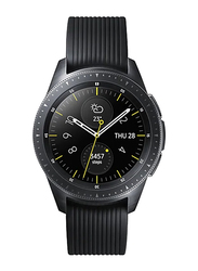 Samsung Galaxy R810 - 42mm Smartwatch, 1.2 inch Display, GPS/Bluetooth/Wi-Fi, Midnight Black Case with Black Band