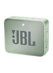 JBL Go 2 Water Resistant Portable Bluetooth Speaker, Seafoam Mint