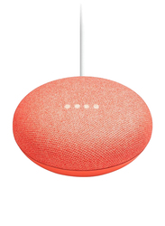 Google Home Mini Portable Bluetooth Speaker, Coral