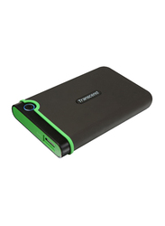 Transcend 1TB HDD StoreJet 25M3 External Portable Hard Disk, USB 3.0, Anti-Shock Military Drop Tested, Black