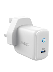 Anker PowerPort PD 1 Wall Charger, with 18W UK Plug Type C, White