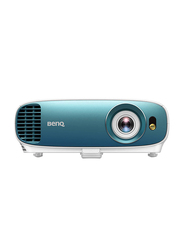 BenQ TK800 4K UHD DLP Wireless Portable Home Entertainment Projector, 3000 Lumens, Built-in Speaker, White