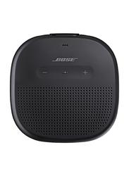 Bose SoundLink Splash Resistant Micro Bluetooth Speaker, Black Strap, Black