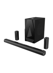 MediaCom M60 5.1 Channel Platinum Sound Bar Home Theater with Subwoofer, Black