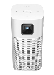 BenQ GV1 FHD LED Wireless Portable Projector, 200 Lumens, Wi-Fi and Bluetooth Speaker, Silver
