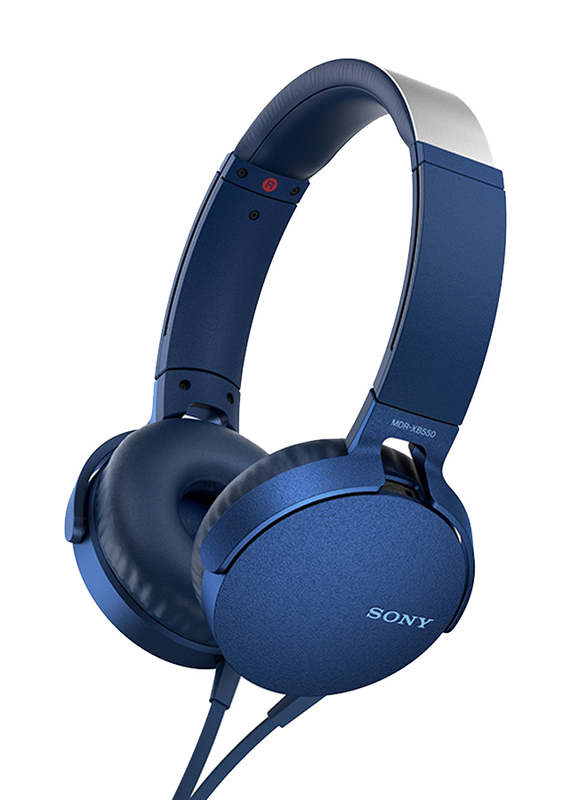 Sony MDR-XB550AP Wired Over-Ear Headphones with Extra Bass , Blue