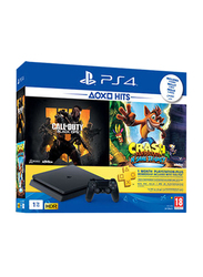 Sony PlayStation 4 Console, 1TB, With 1 Controller and 2 Games & 3 Months PlayStation Plus Membership, Black