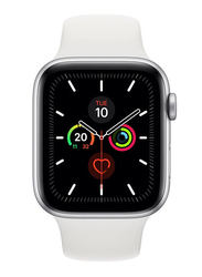 Apple Watch Series 5 - 40mm Smartwatch, GPS, Silver Aluminum Case with White Sport Band