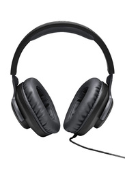 JBL Quantum 100 Wired Over-Ear Gaming Headphones, Black