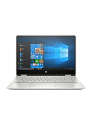 "HP Pavilion x360 2-in-1 Convertible Laptop, 14"" FHD, Intel Core i7 10th Gen 4.9GHz, 1TB HDD + 256GB SSD, 16GB RAM, 2GB NVIDIA GeForce MX250, EN KB, Win10 Home 64, 14-DH1007NE, Silver"