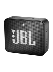 JBL Go 2 Water Resistant Portable Bluetooth Speaker, Midnight Black