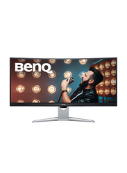 BenQ 35 Inch HDR Curved LED Monitor with Eye-care Technology, EX3501R, Silver