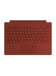 Microsoft Surface Pro Signature Type Cover Wireless English Keyboard, Poppy Red