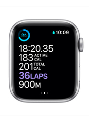 Apple Watch Series 6 - 40mm Smartwatch, GPS, Silver Aluminum Case with White Sport Band